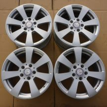 4 x Alufelgi 16 MERCEDES 5x112 7J Et43 Made in Germany Original
