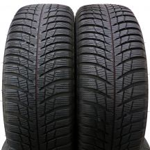 2 x BRIDGESTONE 205/60 R16 96H XL 6-7mm Blizzak Lm001 Zima DOT19