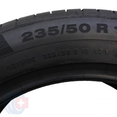 6. 2 szt. Opony Continental 235/50 R18 Lato ContiSportContact 5 MGT 97Y 7mm!